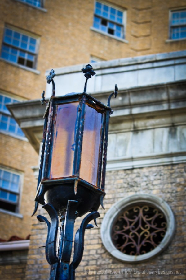 The Baker Hotel - Front Entry Light Post