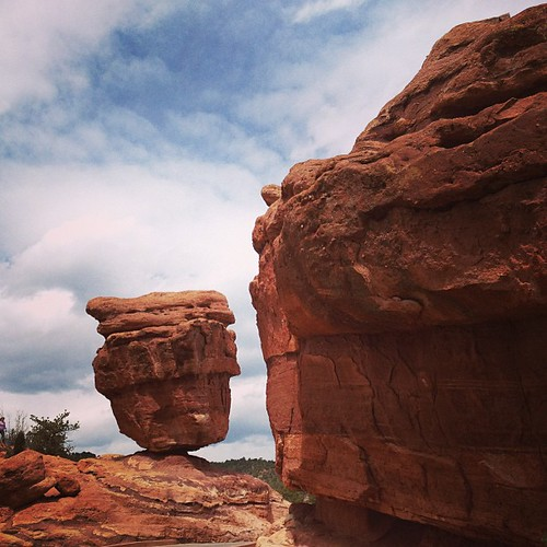 Balancing Rock at Garden of the Gods #colorado #coloradosprings by @MySoDotCom