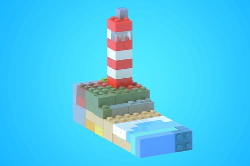 Modulex Lighthouse by Carson Hart on Flickr