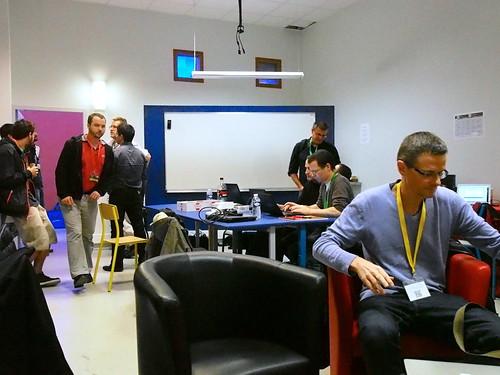 DevFest 2013 : la salle de repos des organisateurs