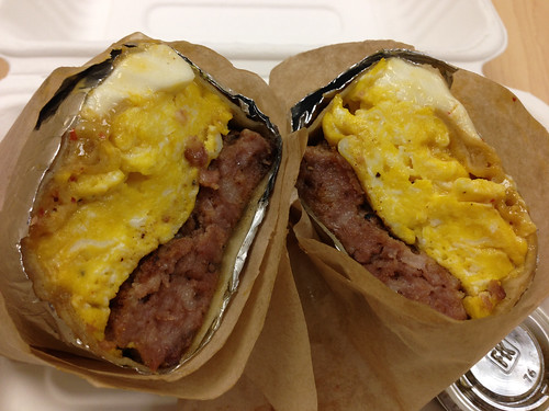 Cook Pigs Ranch Sausage/Egg/Queso Blanco Burrito