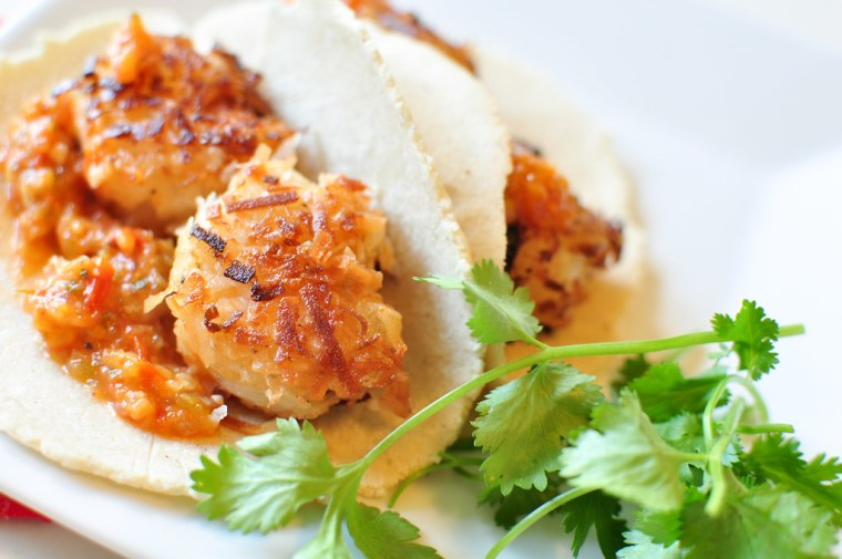 Coconut Shrimp Tacos with Roasted Pineapple Salsa 3
