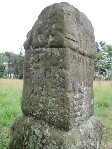Guidestone near Castleton