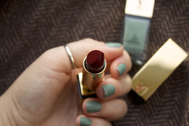 16 YSL Jade Imperial swatches + YSL Rouge Pur Couture #2 Rouge Pourpre lipstick swatches