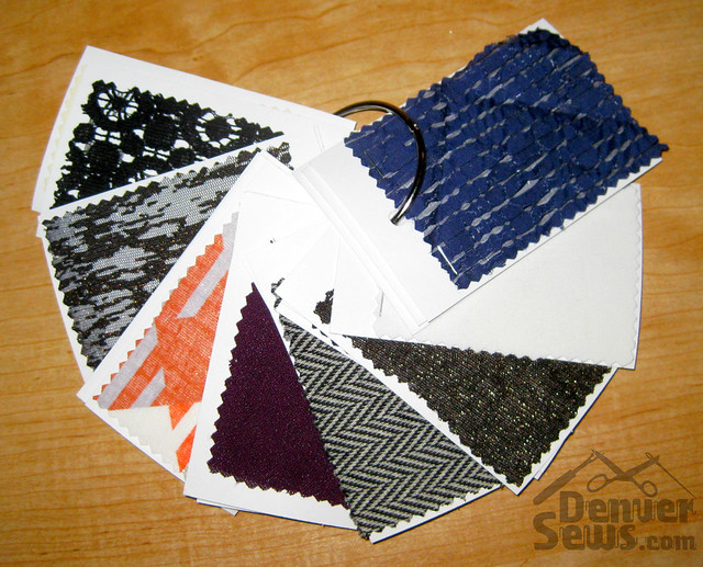Swatch card ring fabric side