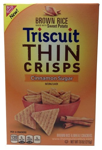Nabisco Cinnamon Sugar Brown Rice Baked With Sweet Potato Triscuit Thin Crisps