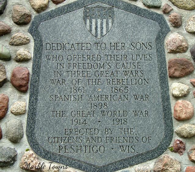 War Mem plaque-Riverside Cem-Peshtigo.JPG