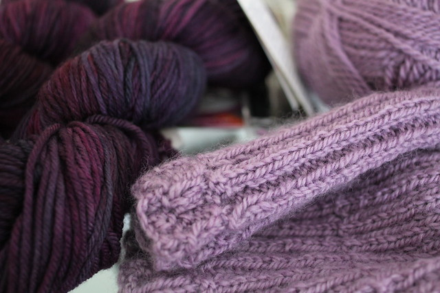 Sunday: current knitting and more wool