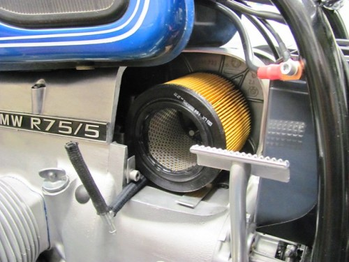 New Air Filter, Fuel Cross Over and Left Tank Fuel Hose Installed