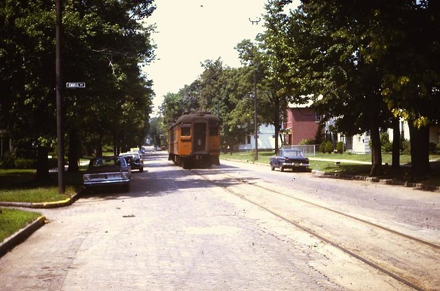 South Bend, IN - South Shore RR on La Salle St. at Embell Ct.- 1969