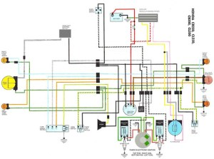 Modified CL350 Wiring Diagram | Stock Wiring with Pamco