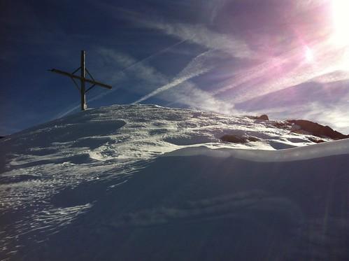Amperspitze 2.687 m mit Gipfelkreuz