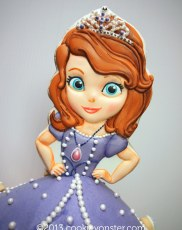 Sofia the First cookie cake topper