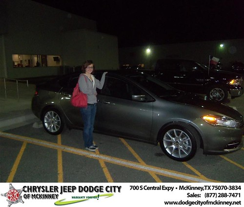 Happy Anniversary to Lori Denewiler on your 2013 #Dodge #Dart from Joe Ferguson  and everyone at Dodge City of McKinney! by Dodge City McKinney Texas