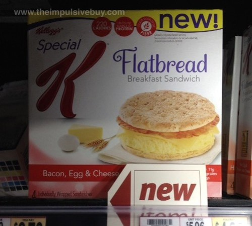 Kellogg's Special K Bacon, Egg, & Cheese Flatbread Breakfast Sandwich