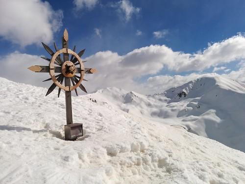 Gipfelkreuz Golfen 2.493 m, Toblach