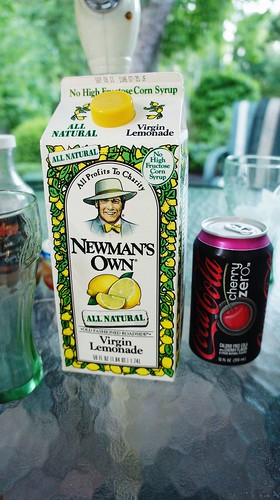 Lemonade and Cherry Coke Zero