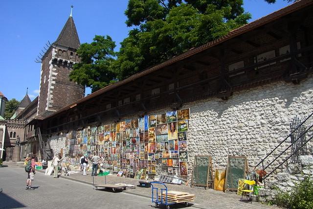 Bildergalerie an der Stadtmauer