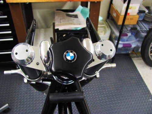 Polished Steering Damper Knob with BMW Emblem