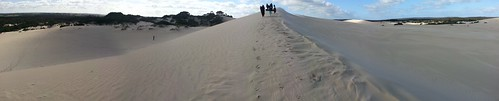 Pano of the Little Sahara sand dunes