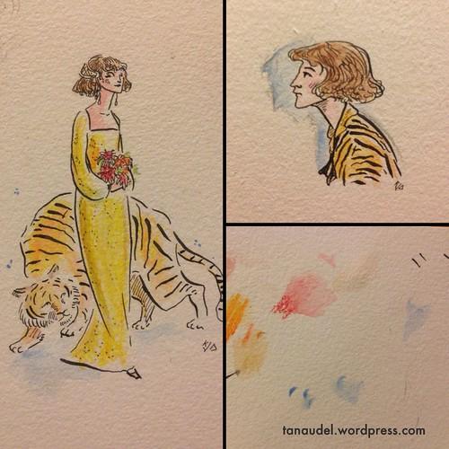 Illustration Friday: Jungle (Shabby tigers)