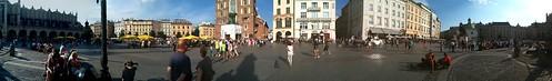 Una veduta della piazza principale di Cracovia