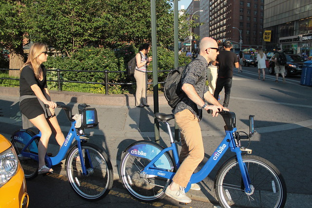 Tourists on Citibike