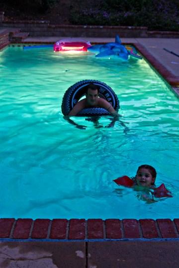 a little night swimming