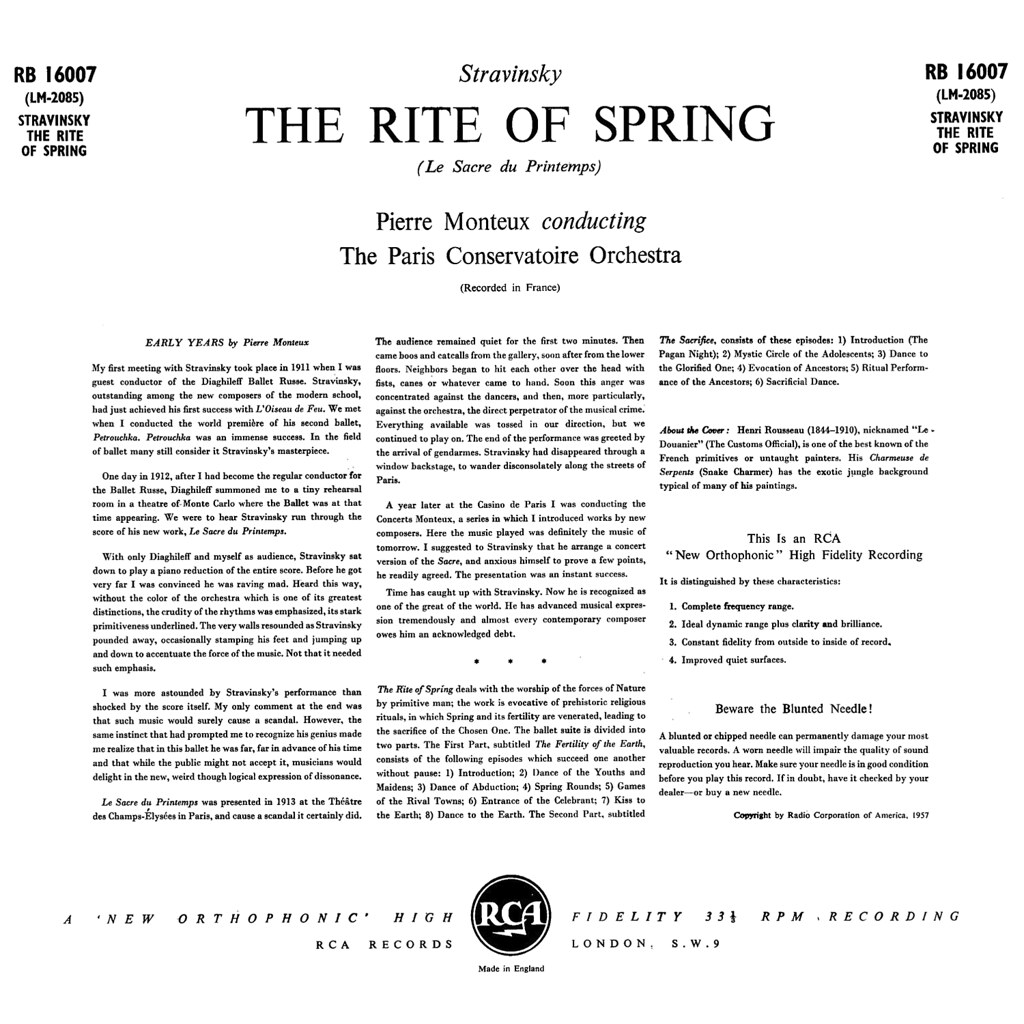 Igor Stravinsky - The Rite of Spring