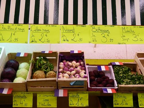 Légumes d'hiver - marché des Batignolles
