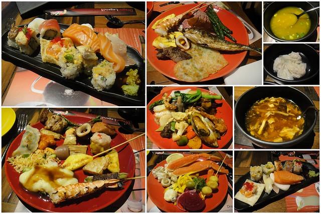 food at Dragon Legend buffet