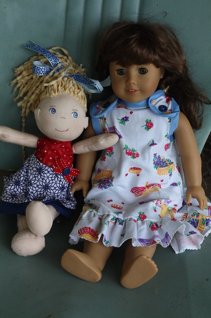 Dressed up dollies