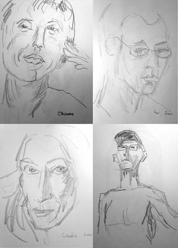 2-minute portraits by Husdant