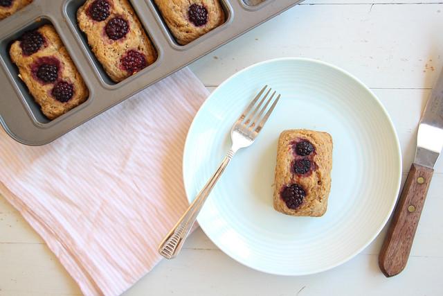 blackberry + spelt mini loafs