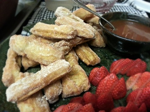 churros with salted caramel by pipsyq