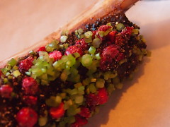 detail: Beef rib and lingon berries