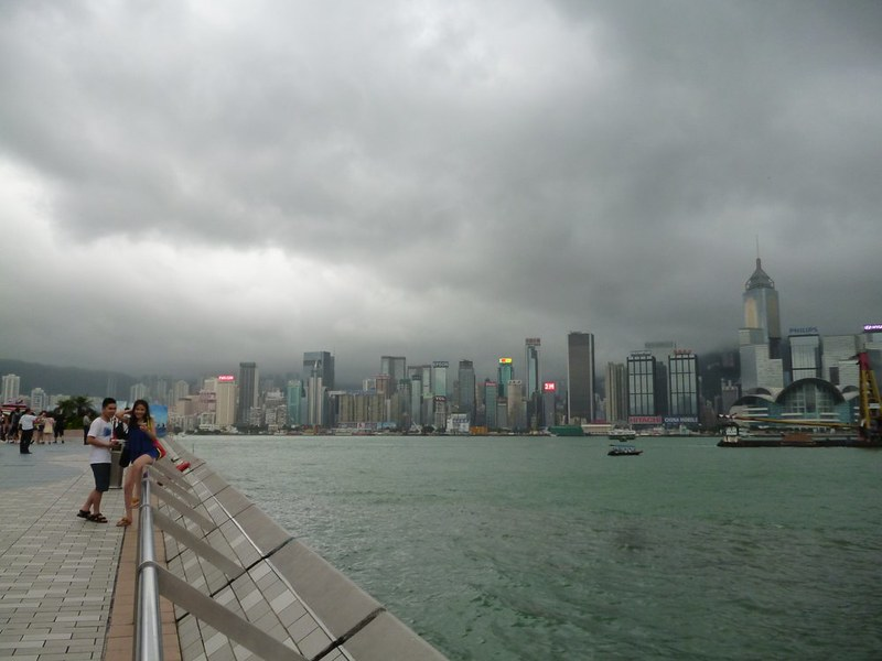 View of Victoria Harbor from Avenue of Stars