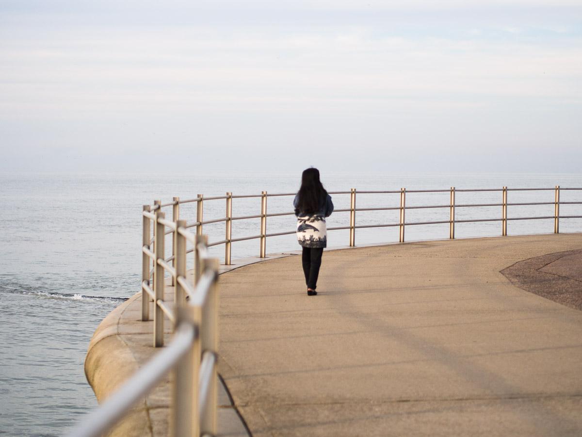 A orillas del mar en Margate