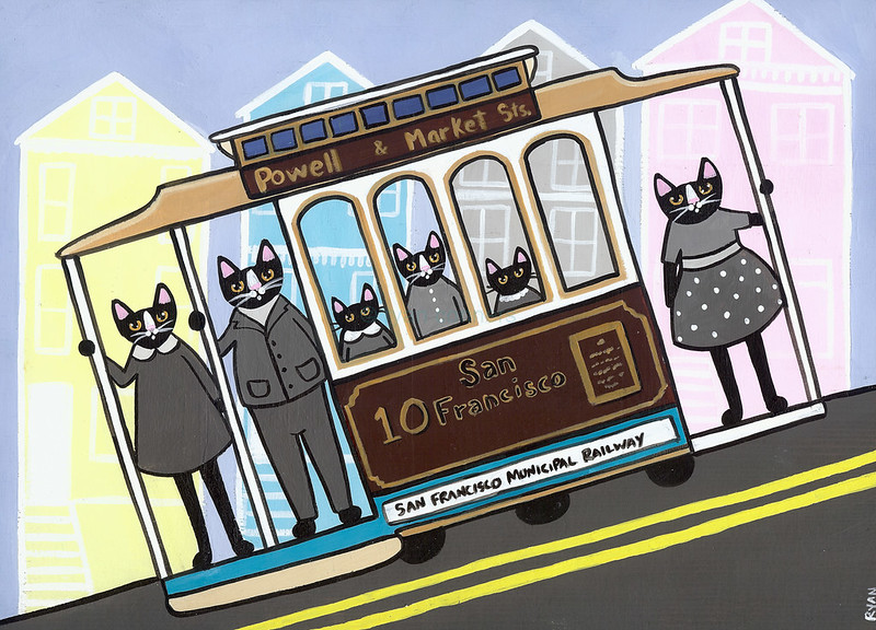san francisco trolley cats
