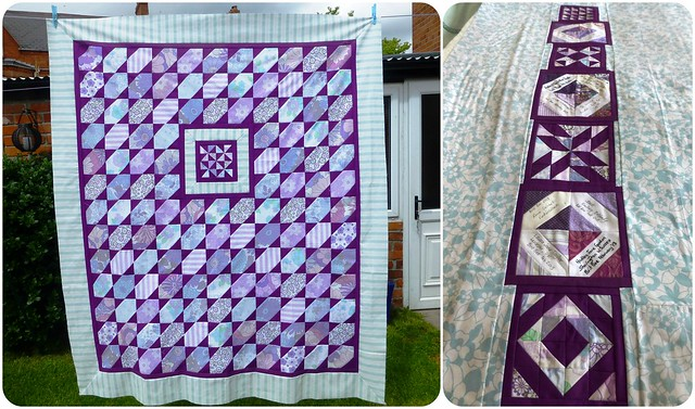 Brit Bee '13 quilt front & back
