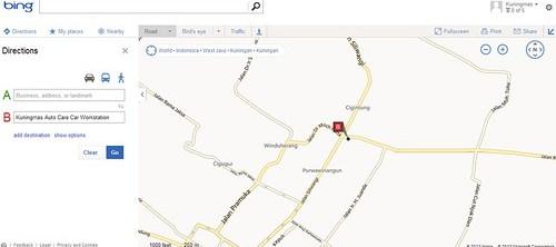 Peta Lokasi Kuningmas Auto Care Kuningan - Jawa Barat