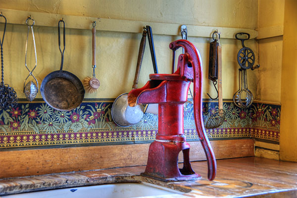 Kitchen Water Pump  The kitchen at the Astor House EXPLORE  Flickr