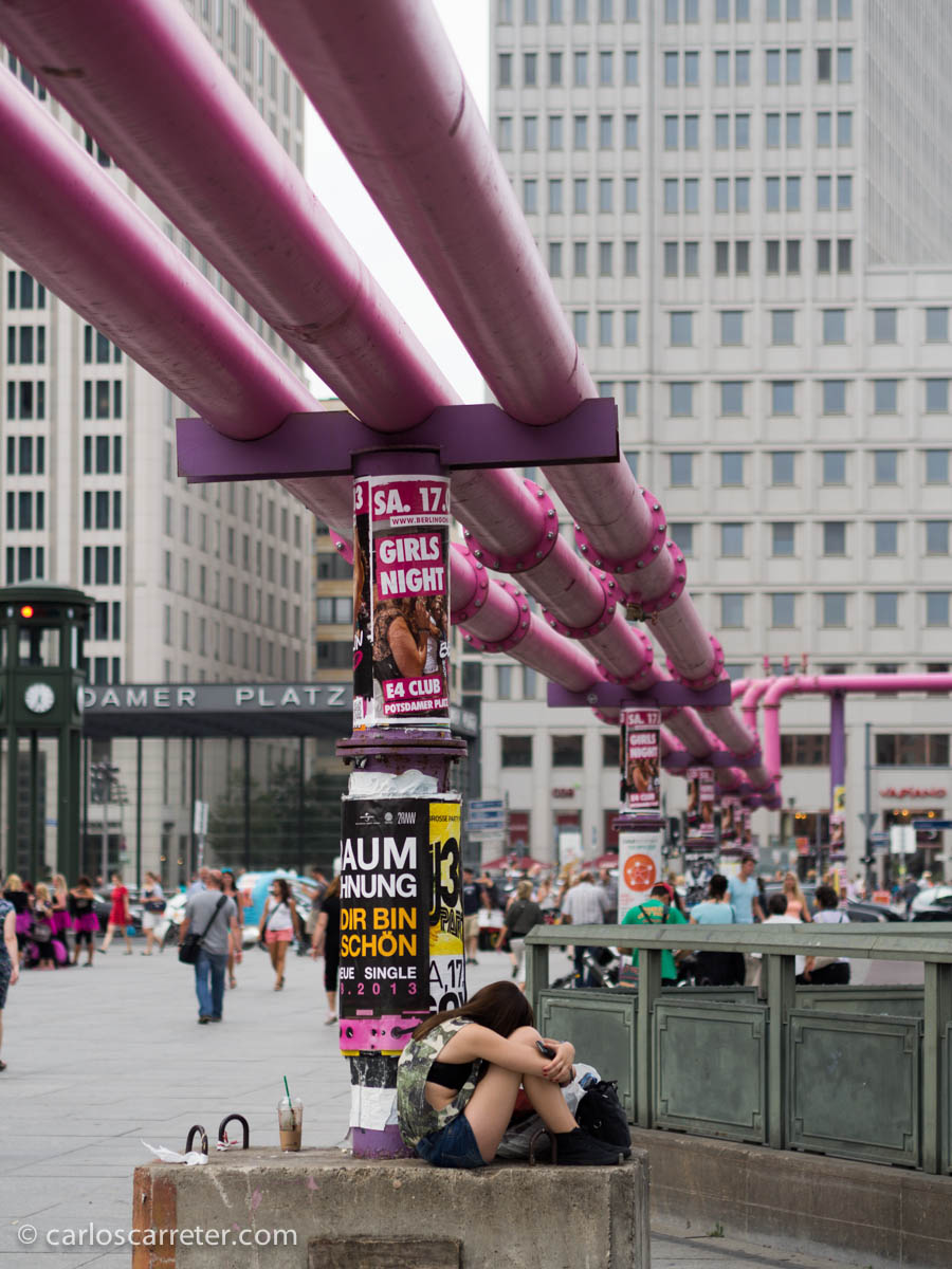 Desagües en Potsdamer Platz