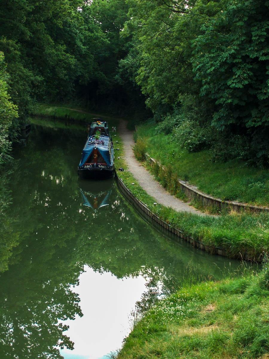 Canal en Solihull, cerca de Birmingham