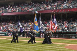 Honor Guard at Indians Game