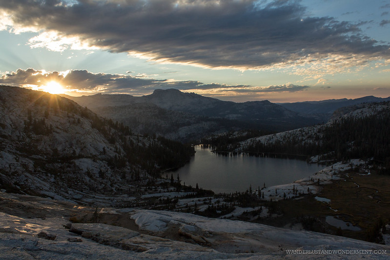 Sun setting over Cathedral lake #flickr12days