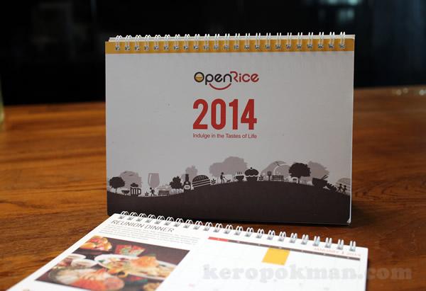 Open Rice 2014 Desktop Calendar
