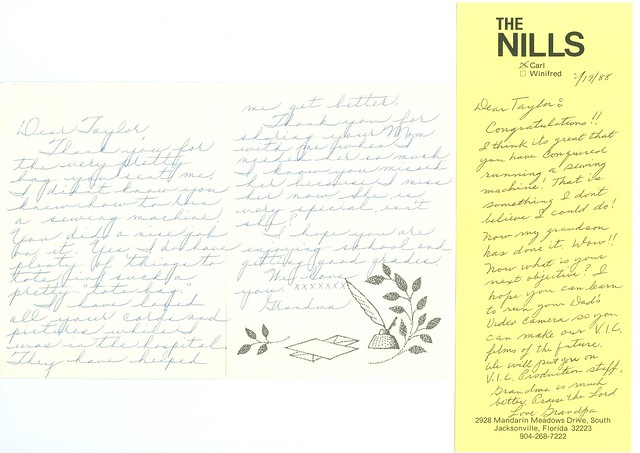 G&G Nill notes about sewing-1987