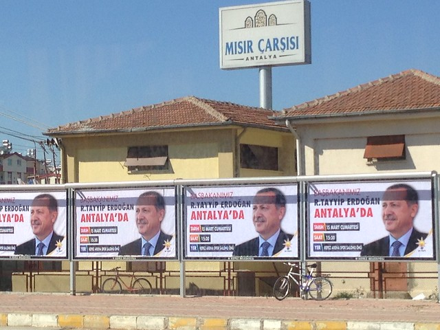 Erdogan posters in antalya