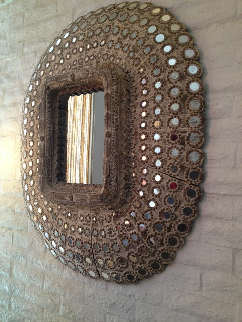 Antique bedazzled mirror